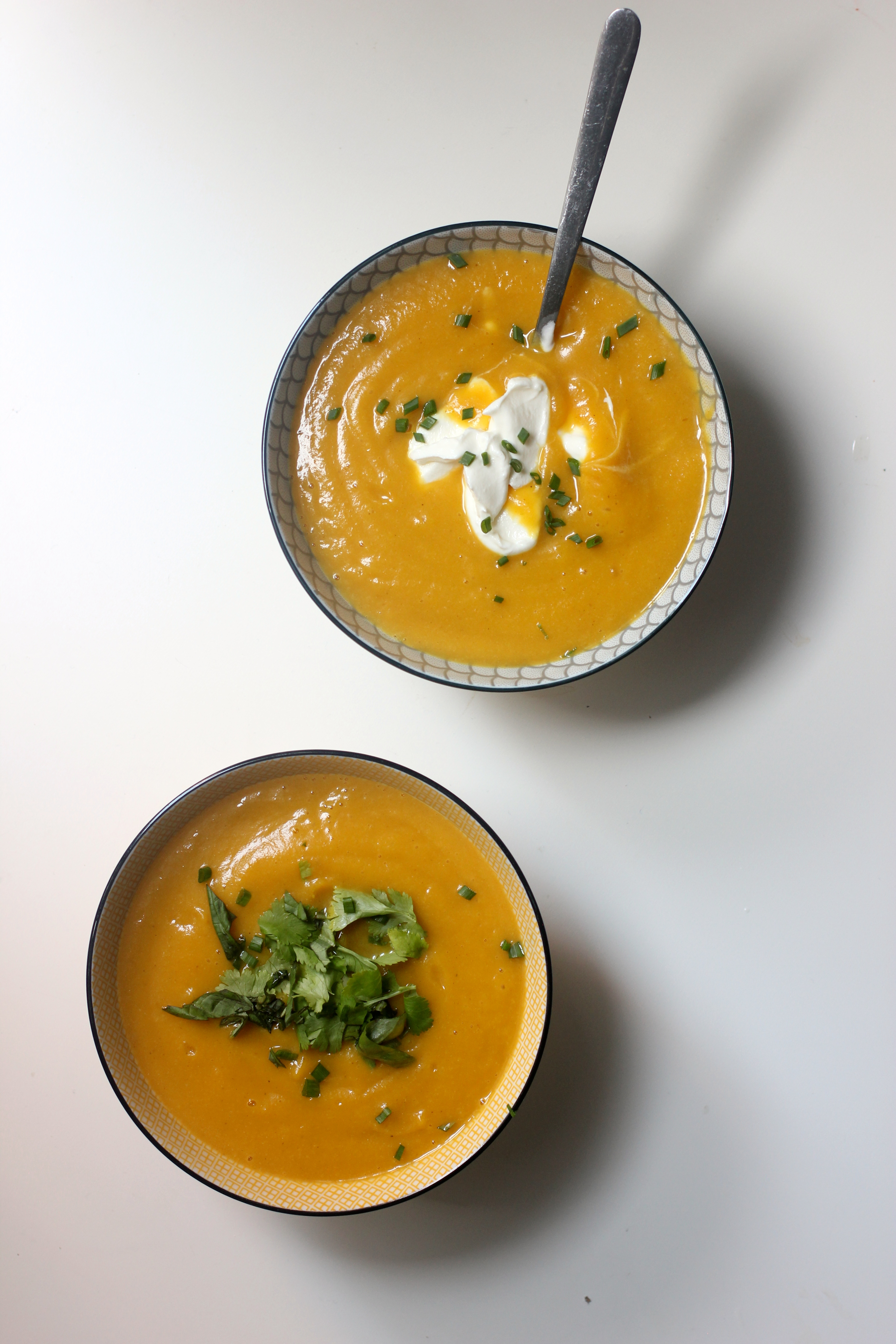 CAULIFLOWER & BUTTERNUT SQUASH SOUP